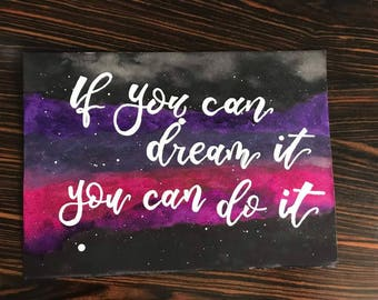 Galaxy painted Quote