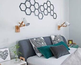 Modular hexagonal, metal laser cut, modern wall art, wall hanging, minimalist wall art, hexagonal wall art, modern trellis, trellis planter