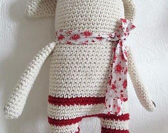 Wild rose crocheted by hand 100% cotton, amigurumi, plushie, birth gift