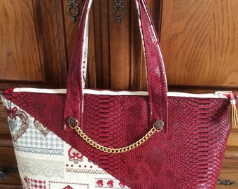 Bag fabric and faux