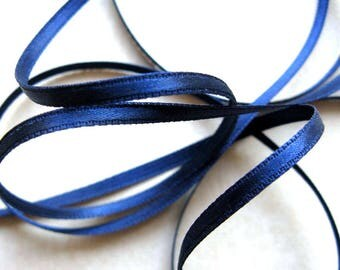 6mm sky blue polyester satin ribbon