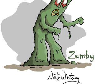 Zumbie the Zombie Gumby Illustration