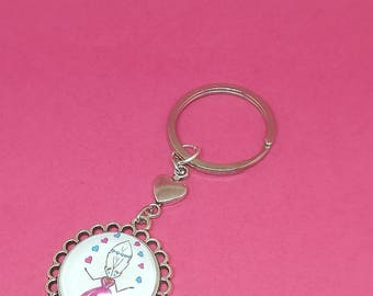 keychain or bag Lily feather charm