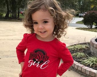 Kids Shirts Custom Toddler Shirts Your logo Your design Shirt,kids clothing,custom made shirts,OSU girl fan,girls shirt,boys shirt,clothing