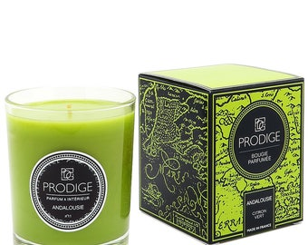 scented candle green lemon