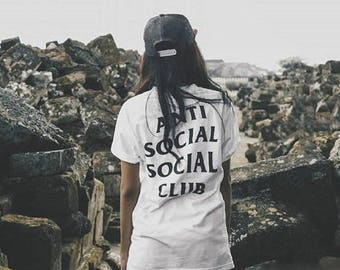 anti social social club, kanye, tumblr shirt, hipster, grunge, instagram, tshirt with sayings, quotes, slogan, funny shirts, aesthetic