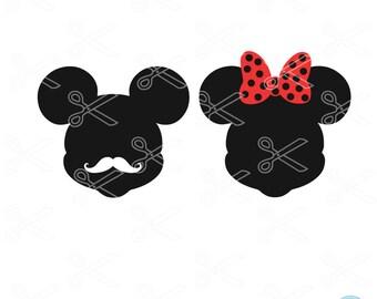 Disney SVG, PNG, DXF, Eps Cutting Files, Mickey Mouse Svg, Disney Cut File, Disney clip art, Minnie Mouse Svg, Silhouette Studio & Cricut