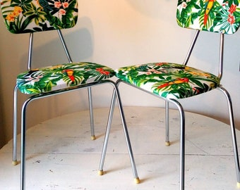 Pair of Jungle renovated Vintage Chair