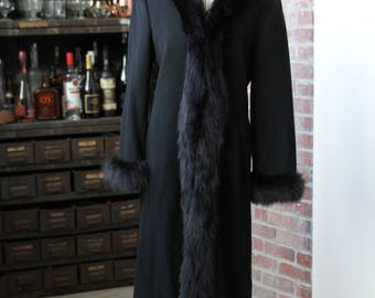 Marvin Richards for Saks Fifth Avenue Vintage Black Fur Jacket Sz 4 (Sm/Med)!!!!!