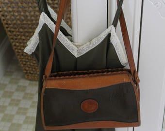 Vintage Leather Dooney and Bourke Bag in Olive Green Color
