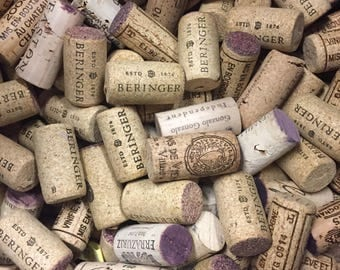 Assorted wine corks (used) for cork projects (cork boards, wedding favours, etc). Batch of 100 corks. OVER 5,000 IN STOCK.