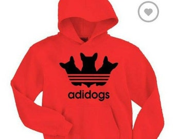 Adidogs Red Pullover Hoodie *NEW*