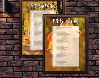 Fall Bucket List - A4 & Letter size