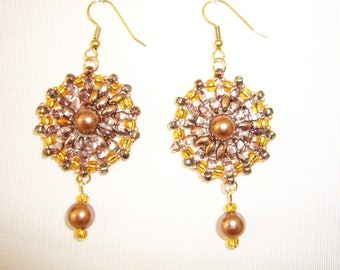 Earrings dangle Bohemian crystal