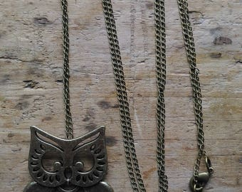 Bronze OWL necklace... great