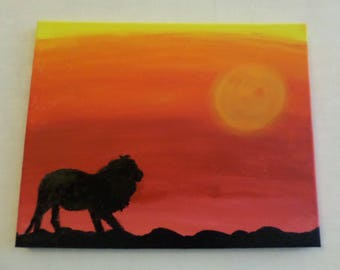 """""""The shadow of the lion"""" tableau"""