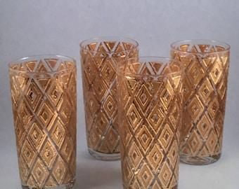 Vintage barware gold tumblers retro barware style