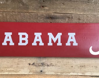 Alabama Football Sign
