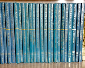 "The ""VETERINARY Clinics of North America""  28 assorted Volumes 1971-1996"