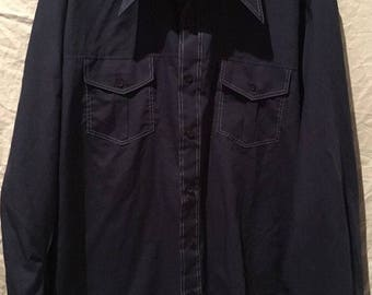 Men's Vintage 60's/70's Kmart Permanent Press Blue Button Down Shirt