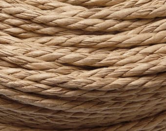 Danish Paper Cord -Natural | Seat weaving material for Danish/Mid Century Modern furniture designs