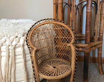 Cane Dolls Chair/Plant Holder