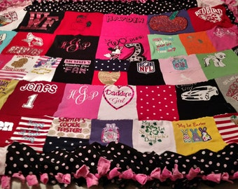 Custom-made T-SHIRT Memory Quilts using your shirts