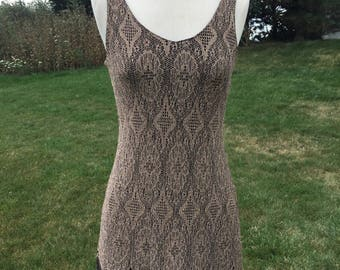 Sleeveless mini dress from the '80's.