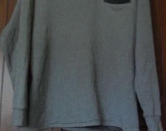 Vintage Ted Lapidus Longsleeve Shirt//French Fashion Designer//Size L