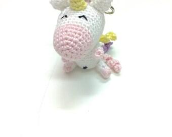 Miniature unicorn plannercharm / keyring / purse charm