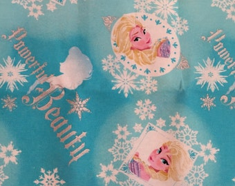Disney Frozen Elsa Powerful Beauty Badge Fabric Fat Quarter