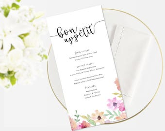 Wedding Menu | Event Menu | Menu Template | Function Menu | Wedding Decor |
