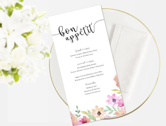 Wedding Menu Event Menu Menu Template Function Menu