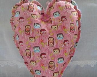 Owl padded heart