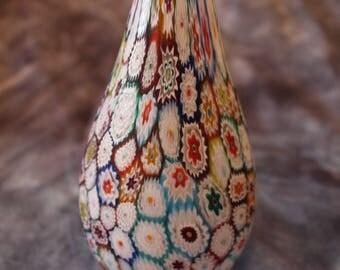 Vintage Italian Millefiori Murano Glass Flower Vase