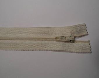 Zippered nylon non detachable champagne 20 cm