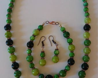 Jewelry Green with Copper Accents