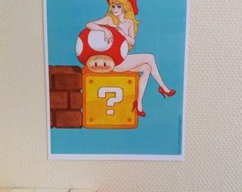 Princess Peach / Princesse Peach - Mario - Print / Impression A4