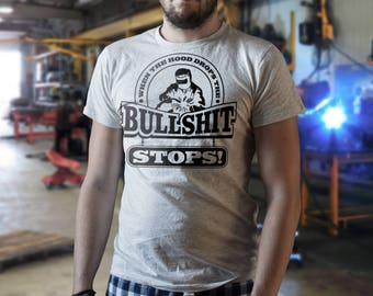 When the hood drops, The bullshit stops -  Funny Tshirt for welders || Welding Welder Gag Gift Epic CoolWear