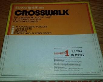 Vintage New York Times Crosswalk Work Challenge Game 1970s  D368