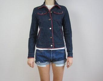 vintage jacket ESCADA denim blue jean jacket size 40 medium