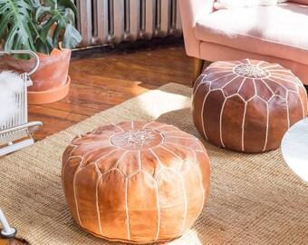 MOROCCAN POUF set 2 of moroccan pouffe ottoman pouf's