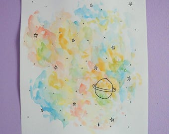 Colorful - original watercolor
