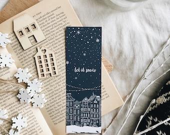 Let it snow - Winter Bookmark