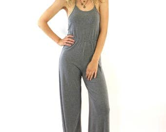 "Knit Halter Jumpsuit - APOGEE ""Saint-Tropez"" Jumpsuit for Juniors'"