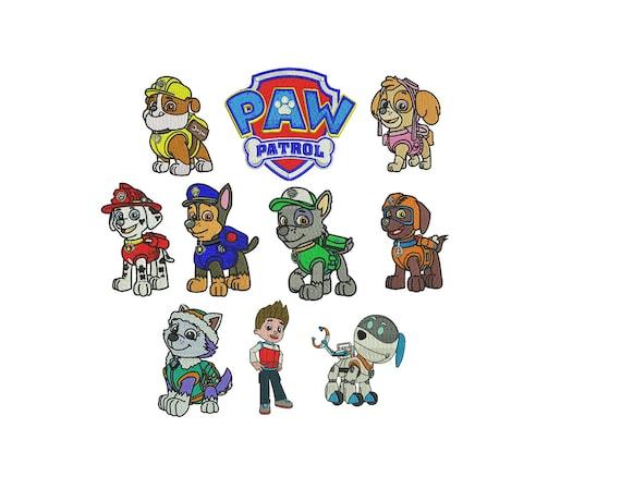 Paw Patrol Digital Embroidery Download 10 Designs Machine