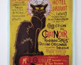 Oil on canvas Reproduction after Teophile Steinlen's series for Chat Noir Cabaret