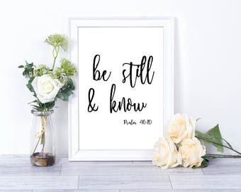 Be Still & Know (Psalm 46:10) *INSTANT DOWNLOAD* Vertical