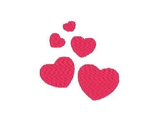Embroidery Hearts Design