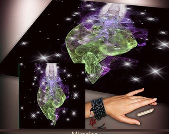 Crystal Grid Cloth - Miracles - Crystal Meditation Energy Grid